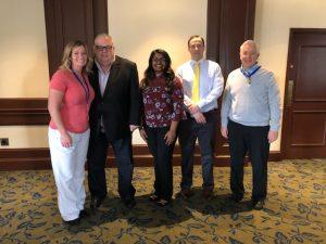 Farrah Kanczes, Bob Rush, Award Winner Melisa Mathew, Ryan Dzadony, David Palmer