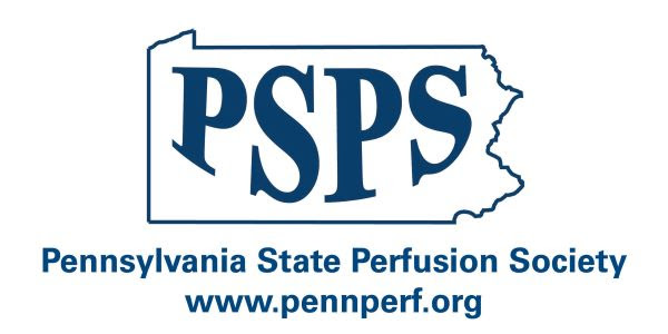Pennsylvania state outline withPSPS within the state and Pennsylvania State Perfusion Society written below